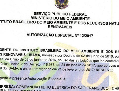 Repetindo 2: 550 m³/s! Vazão mínima autorizada [ainda] em vigor no Baixo São Francisco