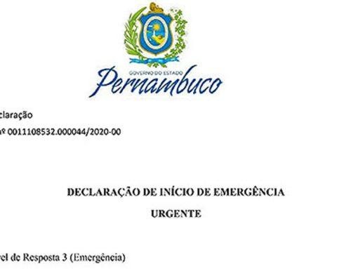 Cheias do rio Ipanema: governo de Pernambuco declara início de emergência